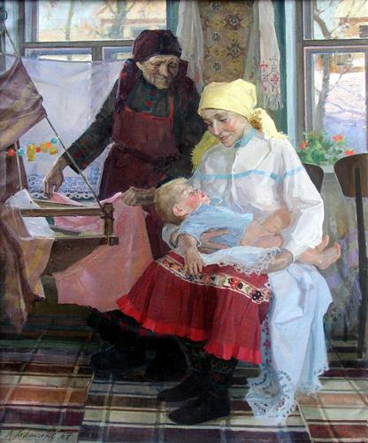 Алексей Павлович Холмогоров Матери. Масло, холст, 1965-67