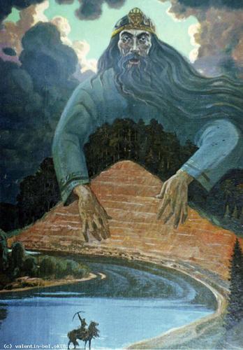 Белых Валентин Леонидович Дух горы Байгурезь. 1996, холст, масло