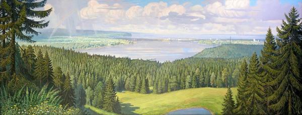 Белых Валентин. Воткинская ГЭС. 2006, холст, масло