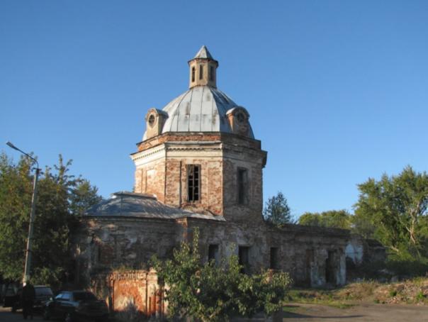 Покровская церковь в Сарапуле.разрушенная