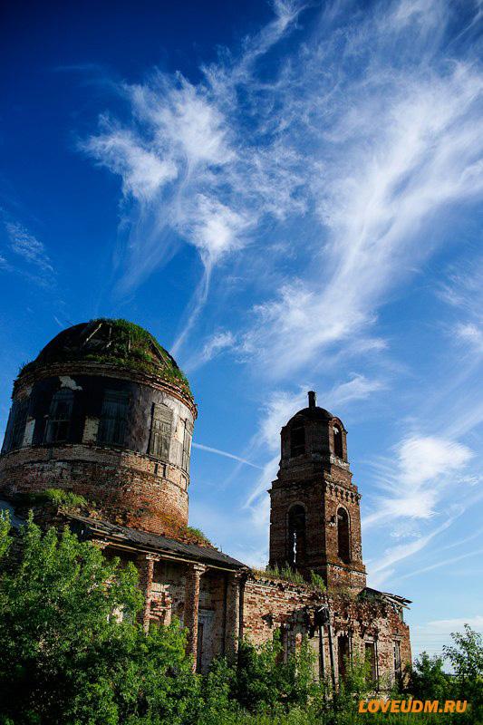 Церковь в село Выезд Удмуртия