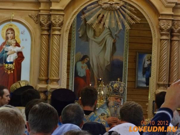 освящение храма Паздеры