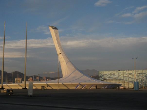 Здесь скоро будет развиваться олимпийское пламя!
