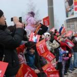 Как встречали Олимпийский огонь в Ижевске