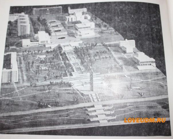 макет центральной площади Ижевска