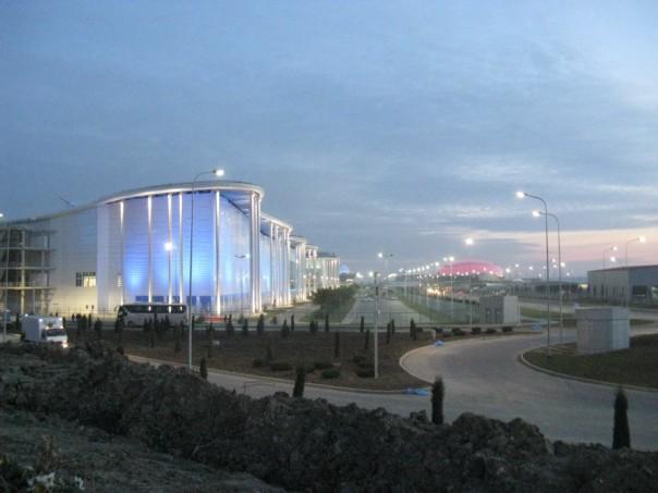 Олимпийский парк ночью