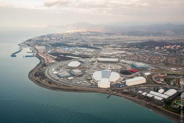 Олимпийский Сочи, вид сверху