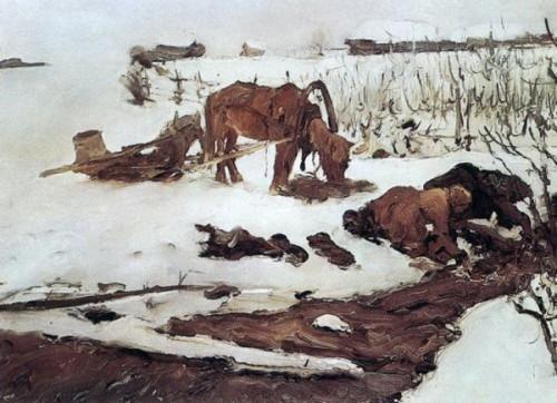 В.А.Серов Полоскание белья